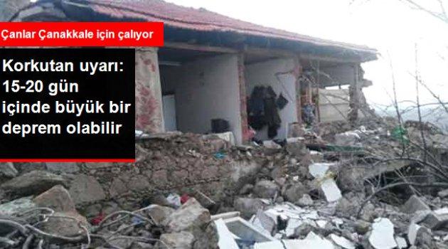 15-20 Gün İçinde 6 Şiddetinde Deprem Olabilir
