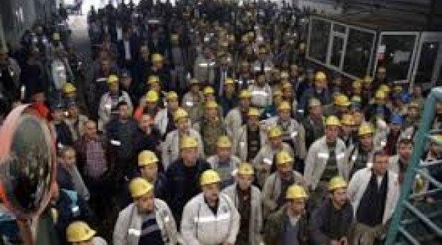 2 bin işçi kendini madene kilitledi!