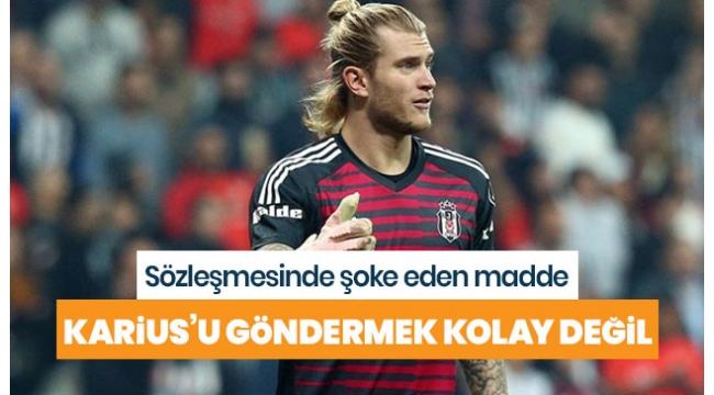Beşiktaş Karius'u Liverpool'un izni olmadan gönderirse 2,5 milyon Euro tazminat ödeyecek