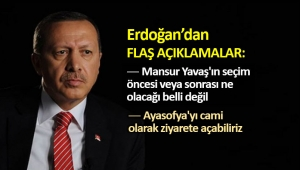 Erdoğan: Yavaş'ın seçim öncesi veya sonrası ne olacağı belli değil