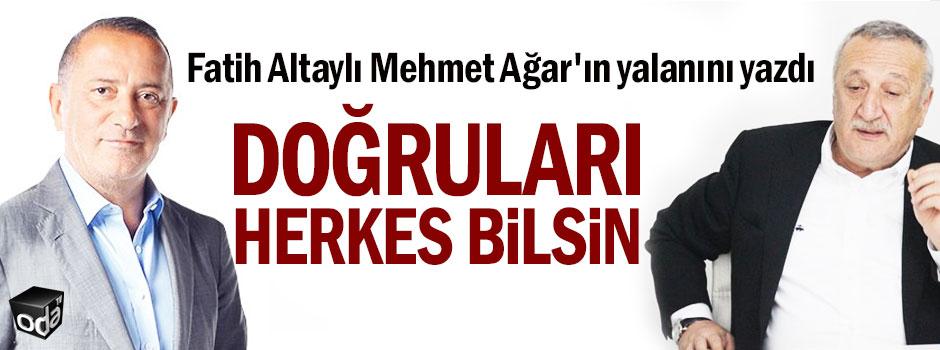 Fatih Altaylı Mehmet Ağar'ın yalanını yazdı: Doğruları herkes bilsin