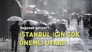 İstanbul Dikkat Çok kuvvetli olacak
