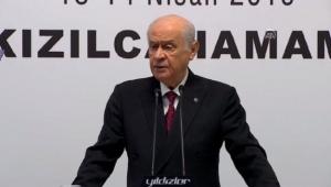 Bahceli MHP yüzde 18.8 AKP yüzde 32.8 oy aldı