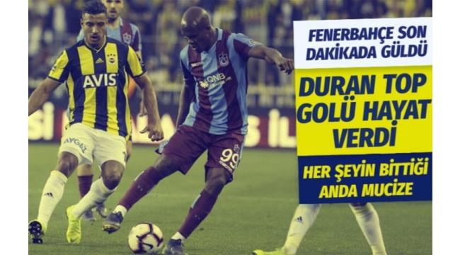 Fenerbahçe – Trabzonspor 1-1