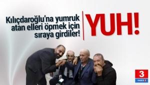 Kılıçdaroğlu'nu yumruklayan elleri öpmek için sıraya girdiler