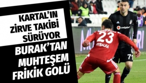 Sivasspor Beşiktaş'a 2-1 maglup oldu