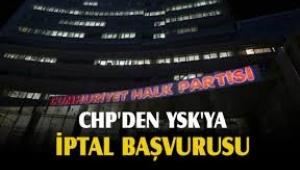 CHP YSK'ya böyle başvurdu: