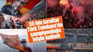 Galatasaray şampiyonluğunu böyle kutladı