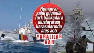 Romanya Türk balıkçılara saldırdı