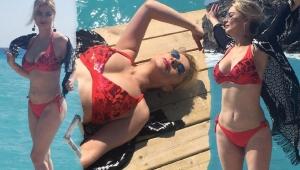 Sütyensiz sahur pozu!