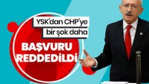 YSK CHP'nin itirazını reddetti