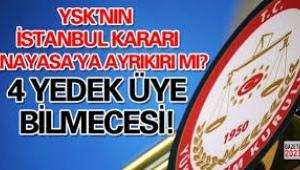 YSK yedek üyelerinin oylamaya katılması anayasaya aykırı