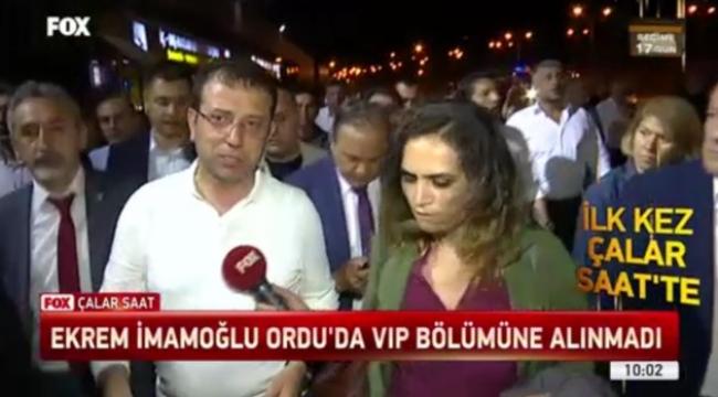 Ekrem İmamoğlu Ordu'da VIP bölümüne alınmadı
