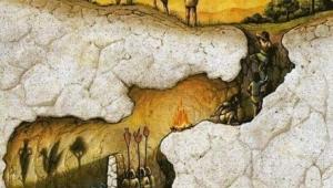 Platonun ünlü mağara alegorisi;