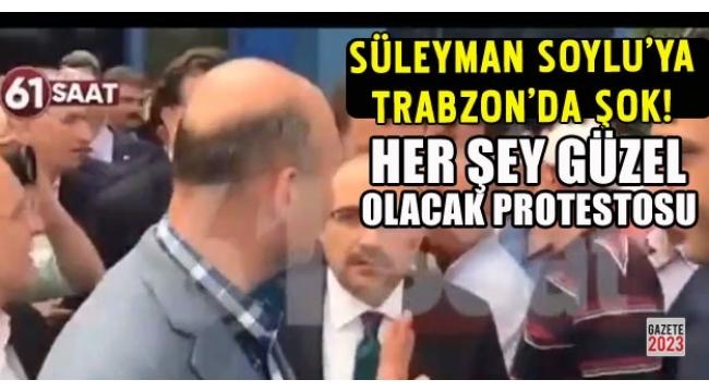 Süleyman Soylu'ya Trabzon'da protesto