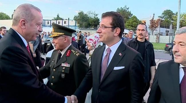 Erdoğan ile İmamoğlu tokalaştı