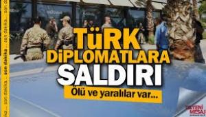 Türk diplomatlara Erbil'de saldırı