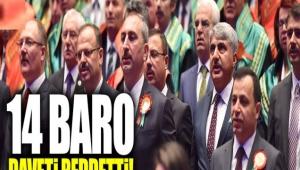 14 baro 'Saray'da adli yıl açılış törenine' katılmayacağını duyurdu...