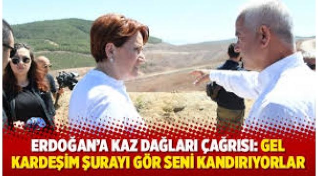 Akşener'den Erdoğan'a: Maden ruhsatını adamların vermiş