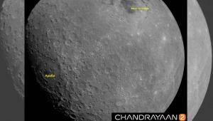 Hindistan'ın uzay aracı Ay'ın yüzeyinden ilk görüntüyü gönderdi