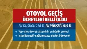 İşte İstanbul-İzmir Otoyol geçiş ücretleri