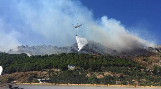 Marmara Adası'ndaki orman yangını 'büyük oranda' kontrol altına alındı