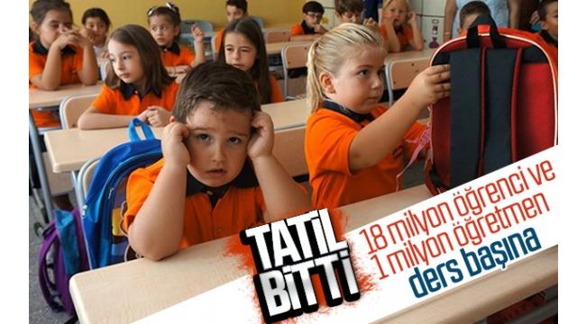 18 milyon öğrenci ve 1 milyon öğretmen sınıflarda; ders zili bugün