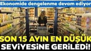 Enflasyon 15 ayın en düşük seviyesinde...