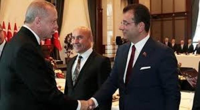 Erdoğan, İmamoğlu, Soyer ve Yavaş'la böyle tokalaştı