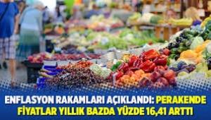 İstanbul'un enflasyon rakamları fiyatlar yıllık bazda yüzde 16,41 arttı