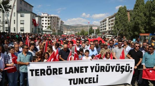 """""""Teröre Lanet Yürüyüşü""""ne yüzlerce yurttaş katıldı"""