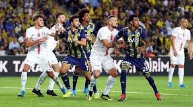 Fenerbahçe, evinde Antalyaspor'a yenildi