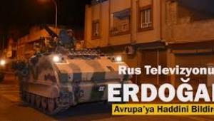 Rus medyası: Erdoğan Avrupa'ya haddini bildirdi