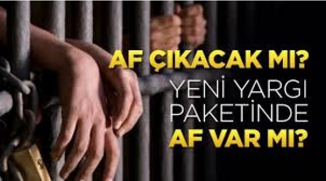AKP'nin af paketinde 5 suça yer yok