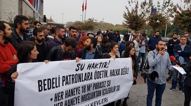İstanbul'da su zammı protestosu