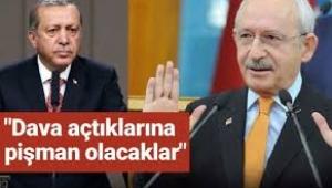 Kılıçdaroğlu'nun avukatından açıklama: Erdoğan bu davayı açtığına pişman olacak