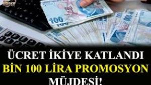Emekliye promosyon 1100 lira müjdesi