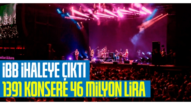 İBB ihaleye çıktı: 2020'de 1391 konsere 46 milyon lira ödenecek