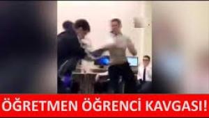 Öğretmen ile öğrenci tekme tokat kavga etti!