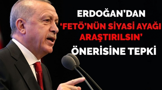 Erdoğan'dan CHP'nin 'FETÖ'nün siyasi ayağı araştırılsın' talebine tepki