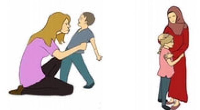 MEB kitapçığında başı açık kadın kötü anne, türbanlı kadın şefkatli anne