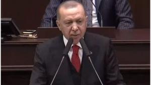 Erdoğan'ın konuşması sırasında