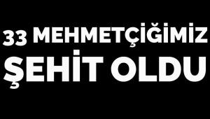 Hatay Valisi: 33 Mehmetçiğimiz şehit oldu.