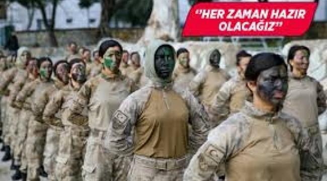 Türkiye'nin ilk kadın komandoları göreve hazır