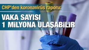 CHP corona raporu: Türkiye'de vaka sayısı 1 milyona ulaşabilir!