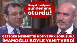İmamoğlu'nun Gezegen Mehmet'e verdiği yanıt sosyal medyada