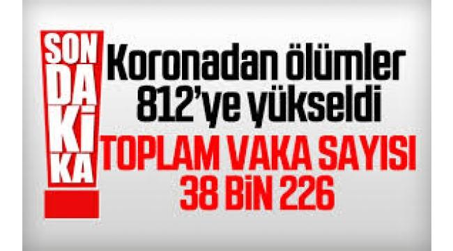 Türkiye'de koronavirüsten can kaybı 812 oldu