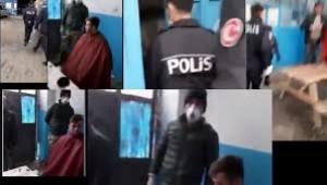 Yasadışı berber çetesine polisten şok baskın