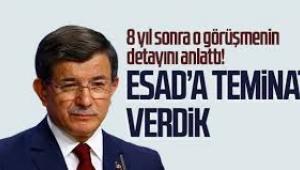 Ahmet Davutoğlu, Esad'la görüşmesini anlattı