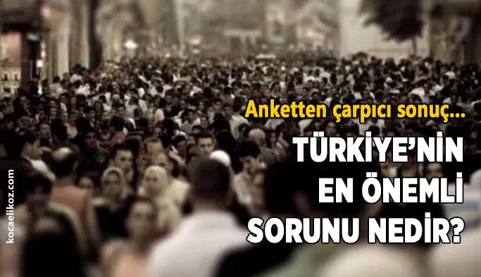 ANAR: Türkiye'nin en önemli sorunu ekonomi